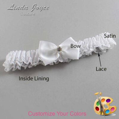 Couture Garters / Custom Wedding Garter / Customizable Wedding Garters / Personalized Wedding Garters / Melba #09-B21-M04 / Wedding Garters / Bridal Garter / Prom Garter / Linda Joyce Couture