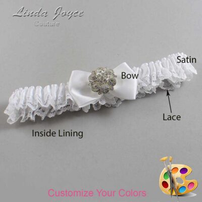 Couture Garters / Custom Wedding Garter / Customizable Wedding Garters / Personalized Wedding Garters / Abigail #09-B21-M11 / Wedding Garters / Bridal Garter / Prom Garter / Linda Joyce Couture