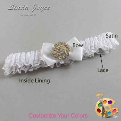 Customizable Wedding Garter / Carrie #09-B21-M12-Gold