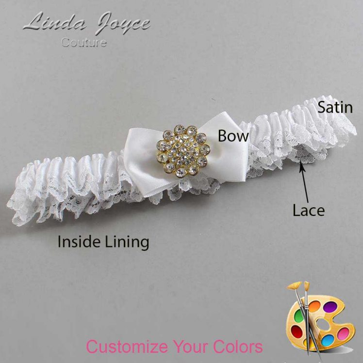 Couture Garters / Custom Wedding Garter / Customizable Wedding Garters / Personalized Wedding Garters / Carrie #09-B21-M12 / Wedding Garters / Bridal Garter / Prom Garter / Linda Joyce Couture