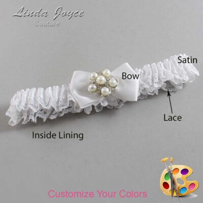 Couture Garters / Custom Wedding Garter / Customizable Wedding Garters / Personalized Wedding Garters / Deanna #09-B21-M13 / Wedding Garters / Bridal Garter / Prom Garter / Linda Joyce Couture