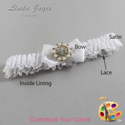 Couture Garters / Custom Wedding Garter / Customizable Wedding Garters / Personalized Wedding Garters / Beth #09-B21-M14 / Wedding Garters / Bridal Garter / Prom Garter / Linda Joyce Couture