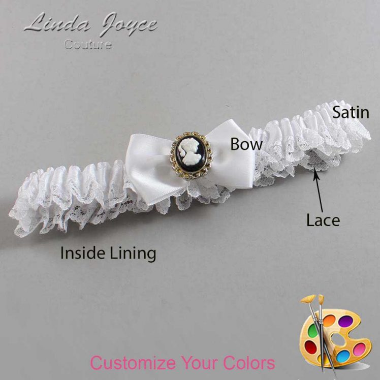 Couture Garters / Custom Wedding Garter / Customizable Wedding Garters / Personalized Wedding Garters / Brooke #09-B21-M15 / Wedding Garters / Bridal Garter / Prom Garter / Linda Joyce Couture
