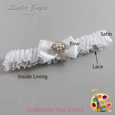 Couture Garters / Custom Wedding Garter / Customizable Wedding Garters / Personalized Wedding Garters / Annika #09-B21-M16 / Wedding Garters / Bridal Garter / Prom Garter / Linda Joyce Couture