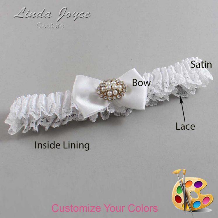 Couture Garters / Custom Wedding Garter / Customizable Wedding Garters / Personalized Wedding Garters / Annika #09-B21-M16 / Wedding Garters / Bridal Garter / Prom Garter / Linda Joyce Couture