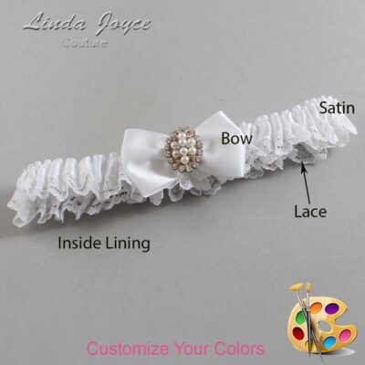 Couture Garters / Custom Wedding Garter / Customizable Wedding Garters / Personalized Wedding Garters / Betty #09-B21-M17 / Wedding Garters / Bridal Garter / Prom Garter / Linda Joyce Couture