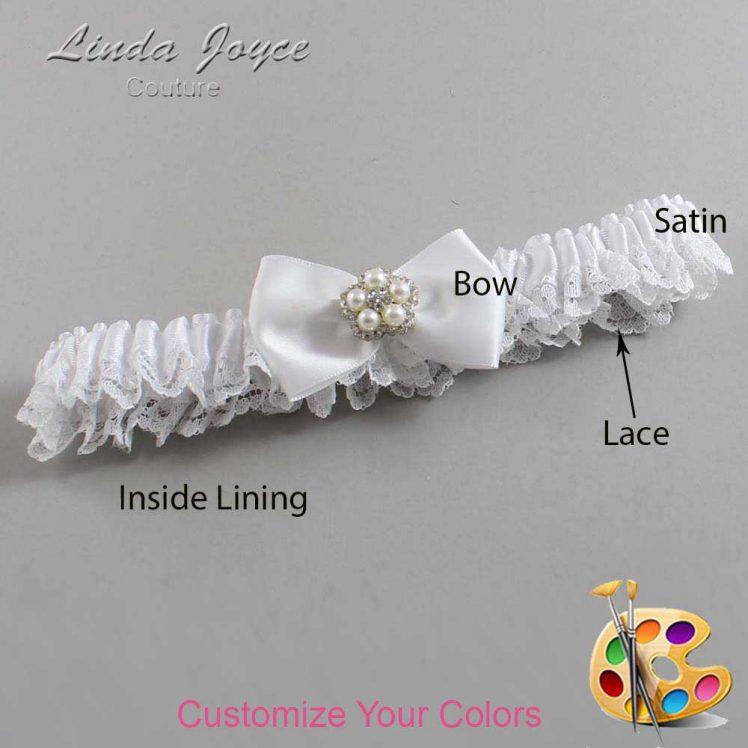 Couture Garters / Custom Wedding Garter / Customizable Wedding Garters / Personalized Wedding Garters / Britney #09-B21-M20 / Wedding Garters / Bridal Garter / Prom Garter / Linda Joyce Couture