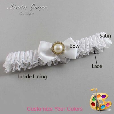 Couture Garters / Custom Wedding Garter / Customizable Wedding Garters / Personalized Wedding Garters / Carlene #09-B21-M21 / Wedding Garters / Bridal Garter / Prom Garter / Linda Joyce Couture