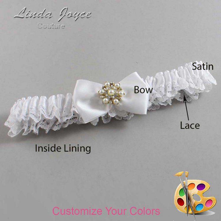 Couture Garters / Custom Wedding Garter / Customizable Wedding Garters / Personalized Wedding Garters / Addison #09-B21-M27 / Wedding Garters / Bridal Garter / Prom Garter / Linda Joyce Couture