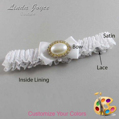 Couture Garters / Custom Wedding Garter / Customizable Wedding Garters / Personalized Wedding Garters / Bernie #09-B21-M28 / Wedding Garters / Bridal Garter / Prom Garter / Linda Joyce Couture