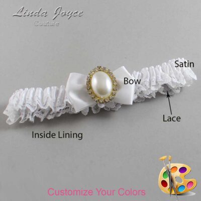 Couture Garters / Custom Wedding Garter / Customizable Wedding Garters / Personalized Wedding Garters / Chelsea #09-B21-M29 / Wedding Garters / Bridal Garter / Prom Garter / Linda Joyce Couture