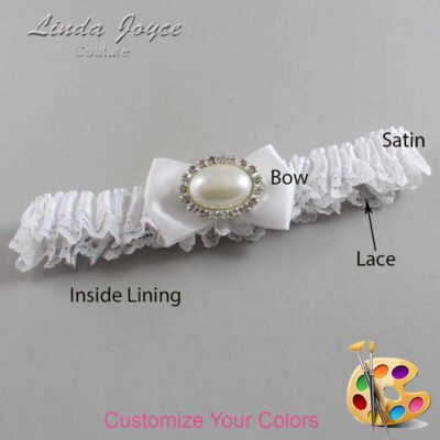 Couture Garters / Custom Wedding Garter / Customizable Wedding Garters / Personalized Wedding Garters / Bernie #09-B21-M30 / Wedding Garters / Bridal Garter / Prom Garter / Linda Joyce Couture