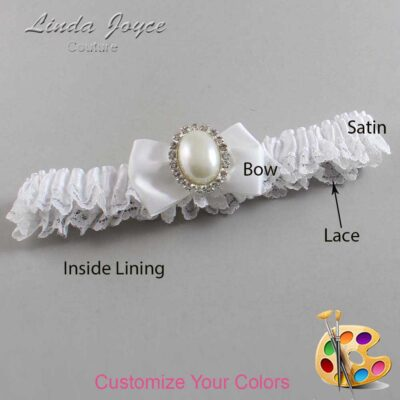 Couture Garters / Custom Wedding Garter / Customizable Wedding Garters / Personalized Wedding Garters / Chelsea #09-B21-M31 / Wedding Garters / Bridal Garter / Prom Garter / Linda Joyce Couture