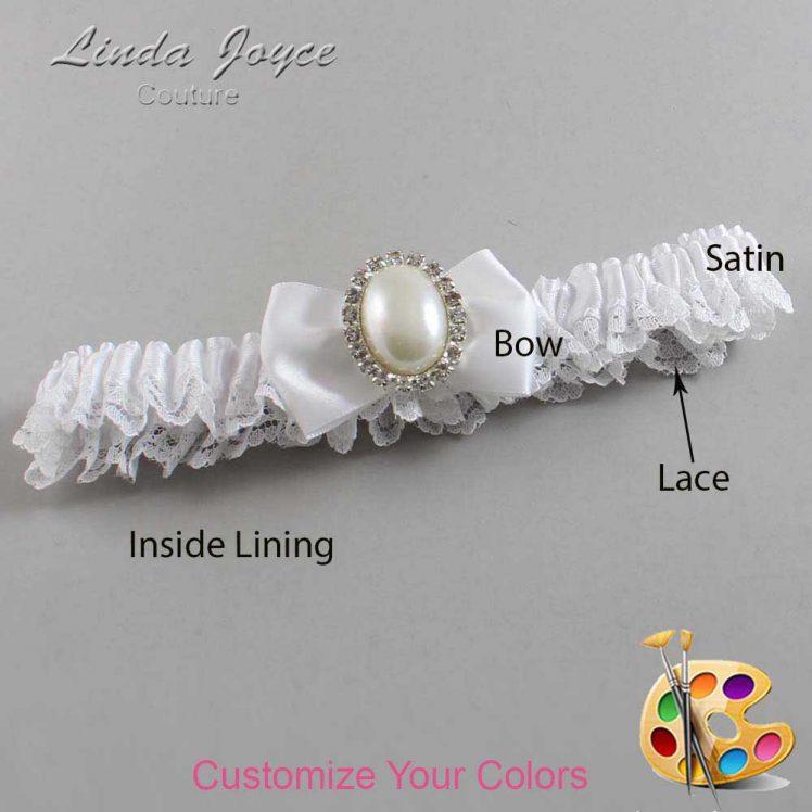 Couture Garters / Custom Wedding Garter / Customizable Wedding Garters / Personalized Wedding Garters / Chelsea #09-B21-M31 / Wedding Garters / Bridal Garter / Prom Garter / Linda Joyce Couture