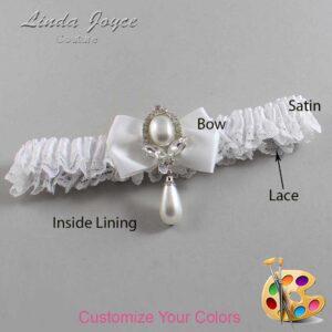 Couture Garters / Custom Wedding Garter / Customizable Wedding Garters / Personalized Wedding Garters / Afton #09-B21-M32 / Wedding Garters / Bridal Garter / Prom Garter / Linda Joyce Couture