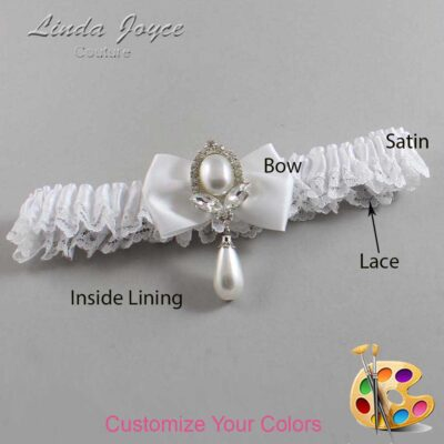 Couture Garters / Custom Wedding Garter / Customizable Wedding Garters / Personalized Wedding Garters / Afton #09-B21-M32 / Wedding Garters / Bridal Garter / Prom Garter / Linda Joyce Couture