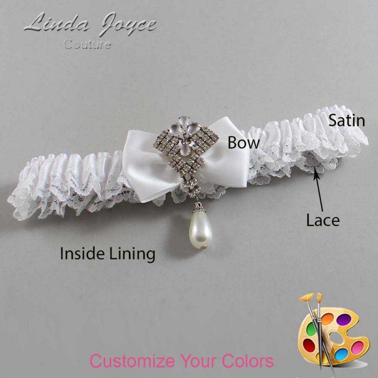 Couture Garters / Custom Wedding Garter / Customizable Wedding Garters / Personalized Wedding Garters / Constance #09-B21-M33 / Wedding Garters / Bridal Garter / Prom Garter / Linda Joyce Couture