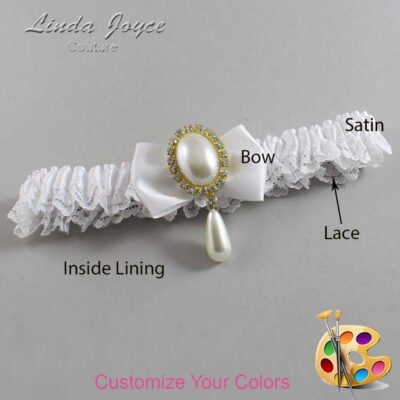 Couture Garters / Custom Wedding Garter / Customizable Wedding Garters / Personalized Wedding Garters / Victoria #09-B21-M34 / Wedding Garters / Bridal Garter / Prom Garter / Linda Joyce Couture