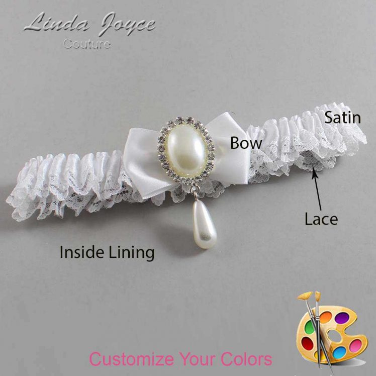 Couture Garters / Custom Wedding Garter / Customizable Wedding Garters / Personalized Wedding Garters / Victoria #09-B21-M35 / Wedding Garters / Bridal Garter / Prom Garter / Linda Joyce Couture