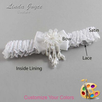 Couture Garters / Custom Wedding Garter / Customizable Wedding Garters / Personalized Wedding Garters / Lori #09-B21-M38 / Wedding Garters / Bridal Garter / Prom Garter / Linda Joyce Couture