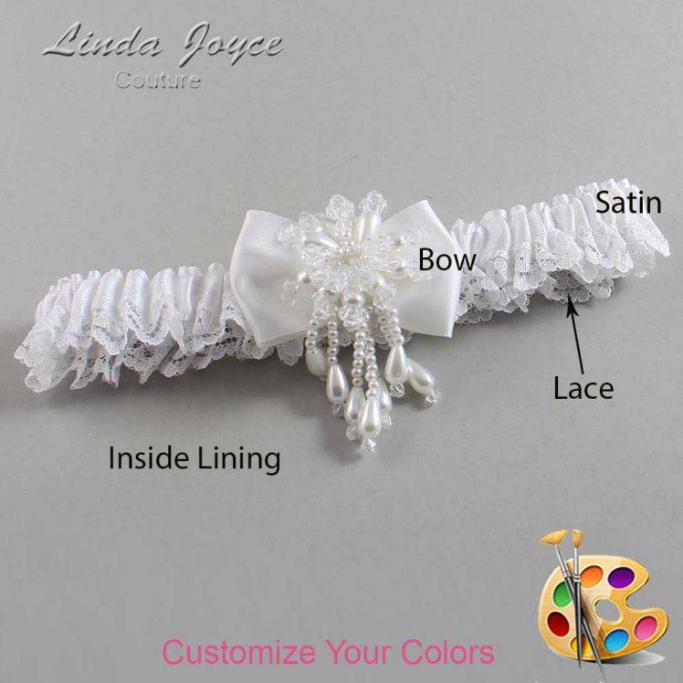 Couture Garters / Custom Wedding Garter / Customizable Wedding Garters / Personalized Wedding Garters / Lori #09-B21-M38 / Wedding Garters / Bridal Garter / Prom Garter / Linda Joyce Couture