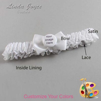 Couture Garters / Custom Wedding Garter / Customizable Wedding Garters / Personalized Wedding Garters / Custom Button #09-B21-M44 / Wedding Garters / Bridal Garter / Prom Garter / Linda Joyce Couture