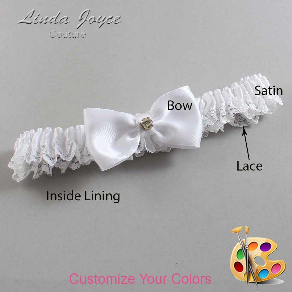 Customizable Wedding Garter / Jodi #09-B29-M03-Gold