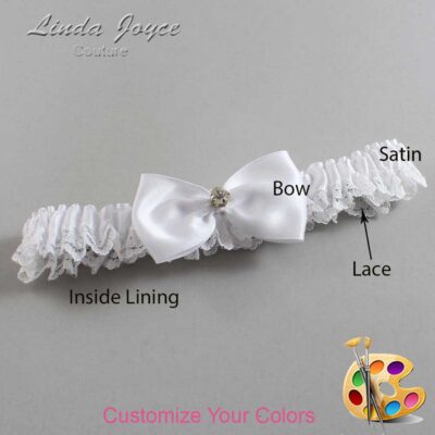 Couture Garters / Custom Wedding Garter / Customizable Wedding Garters / Personalized Wedding Garters / Melody #09-B31-M03 / Wedding Garters / Bridal Garter / Prom Garter / Linda Joyce Couture