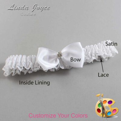 Couture Garters / Custom Wedding Garter / Customizable Wedding Garters / Personalized Wedding Garters / Melody #09-B31-M04 / Wedding Garters / Bridal Garter / Prom Garter / Linda Joyce Couture