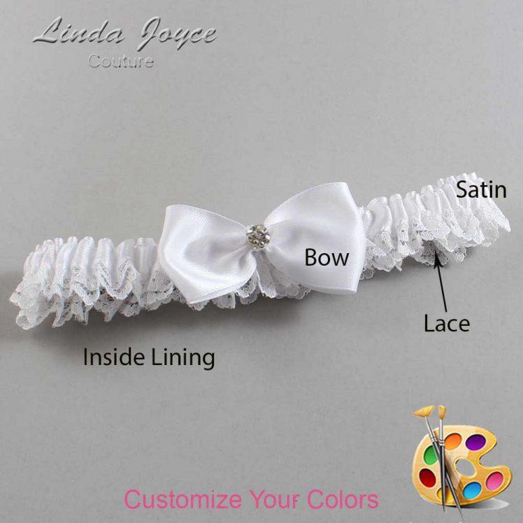 Couture Garters / Custom Wedding Garter / Customizable Wedding Garters / Personalized Wedding Garters / Melody #09-B31-M04 / Wedding Garters / Bridal Garter / Prom Garter / Linda Joyce Couture
