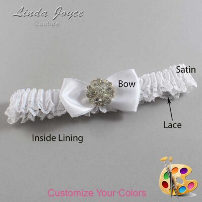Couture Garters / Custom Wedding Garter / Customizable Wedding Garters / Personalized Wedding Garters / Michelle #09-B31-M11 / Wedding Garters / Bridal Garter / Prom Garter / Linda Joyce Couture
