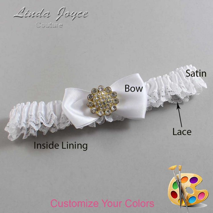 Couture Garters / Custom Wedding Garter / Customizable Wedding Garters / Personalized Wedding Garters / Loretta #09-B31-M12 / Wedding Garters / Bridal Garter / Prom Garter / Linda Joyce Couture