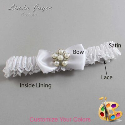 Couture Garters / Custom Wedding Garter / Customizable Wedding Garters / Personalized Wedding Garters / Loriann #09-B31-M13 / Wedding Garters / Bridal Garter / Prom Garter / Linda Joyce Couture