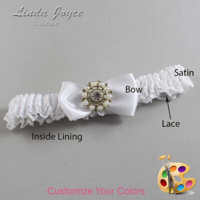 Couture Garters / Custom Wedding Garter / Customizable Wedding Garters / Personalized Wedding Garters / Lollie #09-B31-M14 / Wedding Garters / Bridal Garter / Prom Garter / Linda Joyce Couture