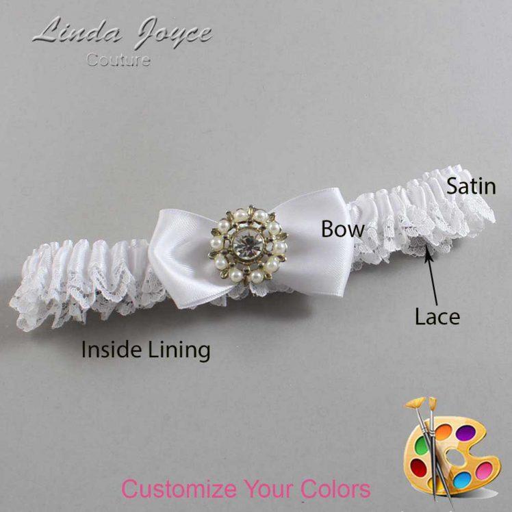 Couture Garters / Custom Wedding Garter / Customizable Wedding Garters / Personalized Wedding Garters / Lollie #09-B31-M14 / Wedding Garters / Bridal Garter / Prom Garter / Linda Joyce Couture