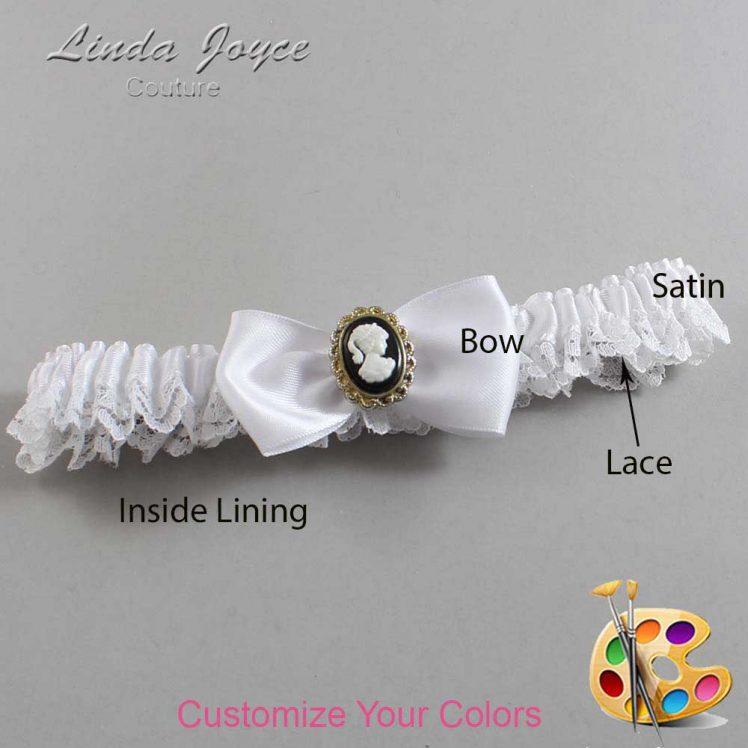 Couture Garters / Custom Wedding Garter / Customizable Wedding Garters / Personalized Wedding Garters / Krista #09-B31-M15 / Wedding Garters / Bridal Garter / Prom Garter / Linda Joyce Couture
