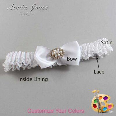 Customizable Wedding Garter / Kathy #09-B31-M16-Gold