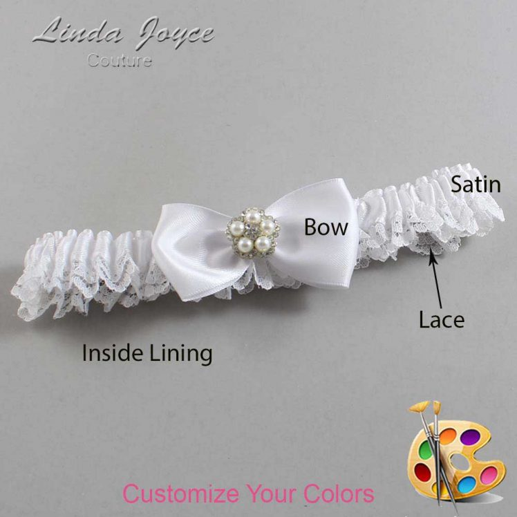 Couture Garters / Custom Wedding Garter / Customizable Wedding Garters / Personalized Wedding Garters / Laureen #09-B31-M20 / Wedding Garters / Bridal Garter / Prom Garter / Linda Joyce Couture