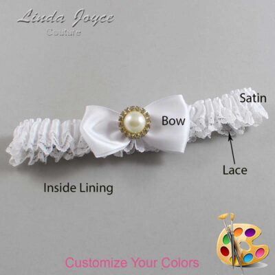 Couture Garters / Custom Wedding Garter / Customizable Wedding Garters / Personalized Wedding Garters / Kendra #09-B31-M21 / Wedding Garters / Bridal Garter / Prom Garter / Linda Joyce Couture