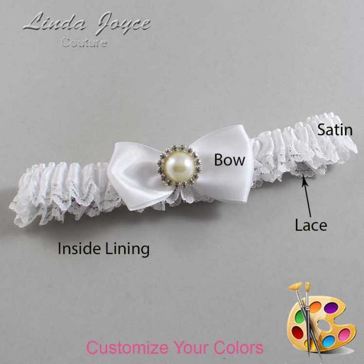 Couture Garters / Custom Wedding Garter / Customizable Wedding Garters / Personalized Wedding Garters / Kendra #09-B31-M22 / Wedding Garters / Bridal Garter / Prom Garter / Linda Joyce Couture