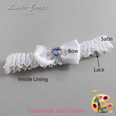 Couture Garters / Custom Wedding Garter / Customizable Wedding Garters / Personalized Wedding Garters / Judy #09-B31-M25 / Wedding Garters / Bridal Garter / Prom Garter / Linda Joyce Couture