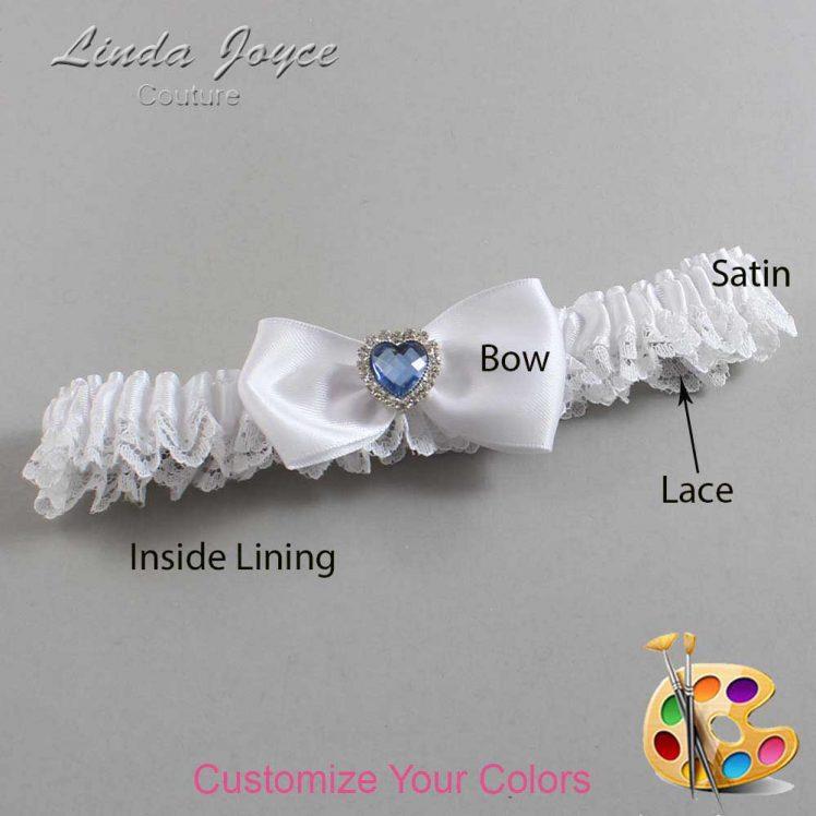 Couture Garters / Custom Wedding Garter / Customizable Wedding Garters / Personalized Wedding Garters / Judy #09-B31-M25 / Wedding Garters / Bridal Garter / Prom Garter / Linda Joyce Couture