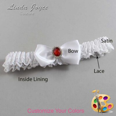 Couture Garters / Custom Wedding Garter / Customizable Wedding Garters / Personalized Wedding Garters / Gayla #09-B31-M26 / Wedding Garters / Bridal Garter / Prom Garter / Linda Joyce Couture