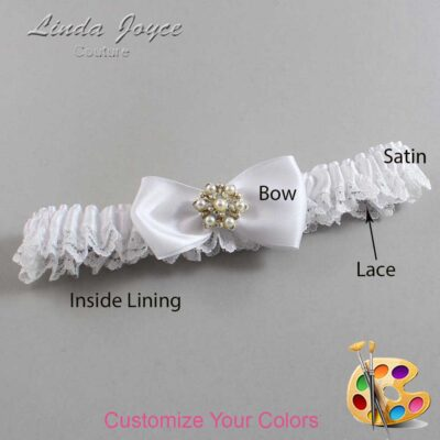 Couture Garters / Custom Wedding Garter / Customizable Wedding Garters / Personalized Wedding Garters / Melissa #09-B31-M27 / Wedding Garters / Bridal Garter / Prom Garter / Linda Joyce Couture