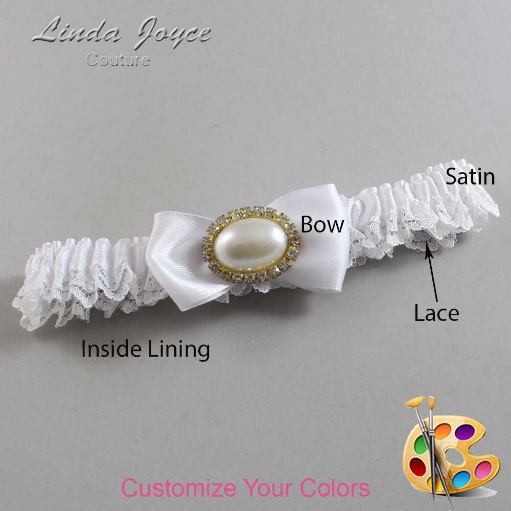 Customizable Wedding Garter / Juilette #09-B31-M28-Gold