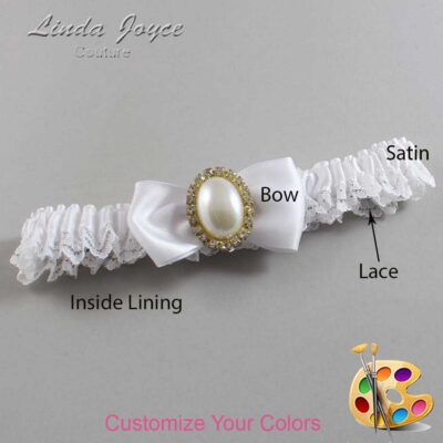 Couture Garters / Custom Wedding Garter / Customizable Wedding Garters / Personalized Wedding Garters / Mindy #09-B31-M29 / Wedding Garters / Bridal Garter / Prom Garter / Linda Joyce Couture