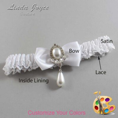 Couture Garters / Custom Wedding Garter / Customizable Wedding Garters / Personalized Wedding Garters / Joan #09-B31-M32 / Wedding Garters / Bridal Garter / Prom Garter / Linda Joyce Couture