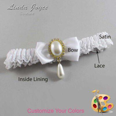 Couture Garters / Custom Wedding Garter / Customizable Wedding Garters / Personalized Wedding Garters / Meghan #09-B31-M34 / Wedding Garters / Bridal Garter / Prom Garter / Linda Joyce Couture