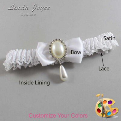 Couture Garters / Custom Wedding Garter / Customizable Wedding Garters / Personalized Wedding Garters / Meghan #09-B31-M35 / Wedding Garters / Bridal Garter / Prom Garter / Linda Joyce Couture