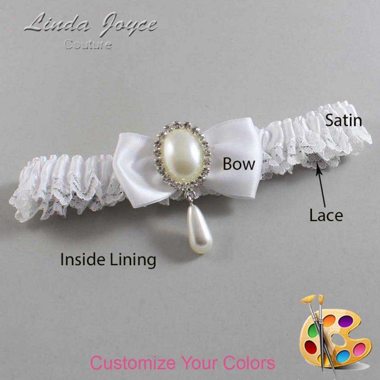 Couture Garters / Custom Wedding Garter / Customizable Wedding Garters / Personalized Wedding Garters / Meghan #09-B31-M35 / Wedding Garters / Bridal Garter / Prom Garter / Linda Joyce Couture